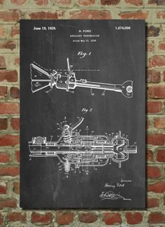 Auxiliary Transmission Poster Auxiliary Transmission Patent Auxiliary Transmission Print Auxiliary Transmission Art