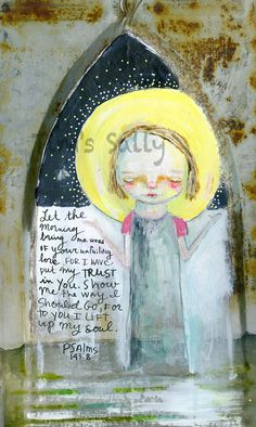 Lift Up My Soul original 9.5 x 13 by Mindy Lacefield by timssally, $175.00
