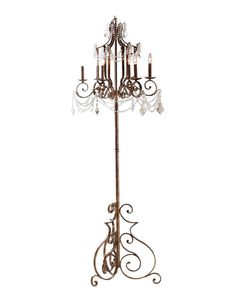 chandelier floor lamp neiman marcus you can do this easily by combining an old standard lamp with an old chandelier
