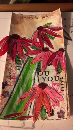 """""""Flowers for Sale"""" art journal page created by me ..."""
