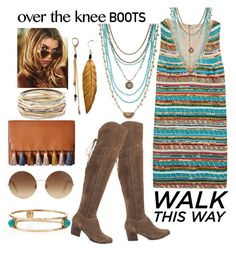 """""""oner the knee boots"""" by srlangley on Polyvore featuring Kendra Scott, ALDO, Rebecca Minkoff, Ashley Pittman, Alice + Olivia, Victoria Beckham and Lucky Brand"""