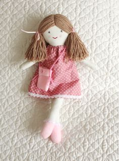 Traditional rag doll little doll cloth doll doll for little
