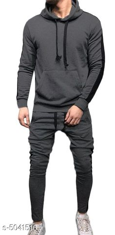 Tracksuits Sleek Style Men's Tracksuits  Fabric: Polyester  Sleeves: Sleeves Are Included  Size: S - Top - Chest - 38  in Length - 27 in Bottom - Waist - 30 in M - Top - Chest - 40 in Length - 28 in Bottom - Waist - 32 in L - Top - Chest - 42 in Length - 29 in Bottom - Waist - 34 in   XL - Top - Chest - 44 in Length - 29.5  in Bottom - Waist - 36 in   XXL - Top - Chest - 46 in Length - 30 in Bottom - Waist - 38 in Type: Stitched Description: It Has 1 Piece Of  Men's Top & 1 Piece Of Bottom Pattern :Solid Country of Origin: India Sizes Available: S, M, L, XL, XXL *Proof of Safe Delivery! Click to know on Safety Standards of Delivery Partners- https://ltl.sh/y_nZrAV3  Catalog Rating: ★4 (2939)  Catalog Name: Divine Sleek Style Men's Tracksuits Vol 8 CatalogID_741186 C70-SC1402 Code: 117-5041510-