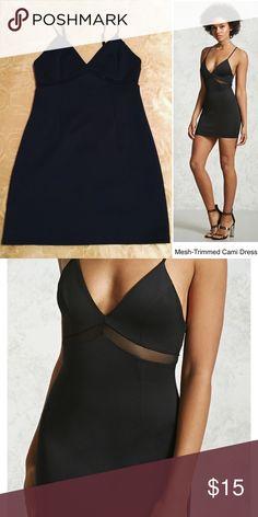 Mesh Trimmed Dress 🖤 NWOT Mesh Trimmed Dress 🖤 NWOT Forever 21 Dresses Mini