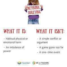 What Bullying Is... and What It Isn't