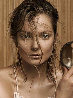 Eniko Milhalik,  Vogue China.  Photo : David Dunan, Stylist : Charles Varenne, Hair : Nicolas Jurnjack, Makeup : Topolino, Manicure: Lucia Cheptene