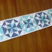 Midnight Frost Table Runner - via @Craftsy FREE