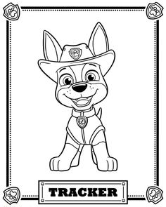 "Image result for template for Paw Patrol dog, ""Tracker"""