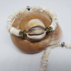 Hawaiian Cowry with natural Puka Shell Bracelet, Go Hawaiian Style by KuuipoDesignerJewels on Etsy Shell Bracelet, Shell Jewelry, Hawaiian Jewelry, Mermaid Jewelry, Hula Girl, Small Faces, Lavender Color, Small Gifts, Cute Gifts