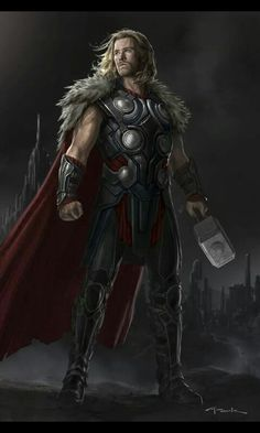 Previously unseen Thor: The Dark World concept art by Andy Park with a Stark - Winterfell, not Tony - twist Marvel Concept Art, Marvel Fan Art, Marvel Comics Art, Marvel Heroes, Marvel Characters, Marvel Avengers, Game Of Thrones Characters, Fictional Characters, Solgaleo Pokemon