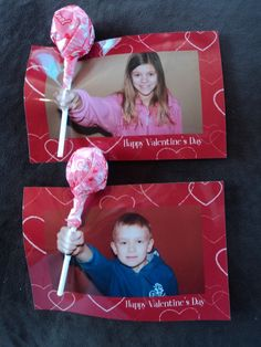 A great idea for this year& classroom party;) Lollipop A great idea for this year& classroom party;) Lollipop Valentines: Easy Va … A great idea for this year& classroom party; Homemade Valentines Day Cards, Valentine Day Crafts, Kids Valentines, Craft Online, Classroom Crafts, In Kindergarten, Photo Cards, Diy For Kids, Holiday Fun