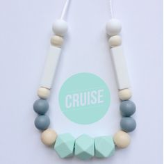Teething necklace silicone nursing baby toys breastfeeding gift baby shower by CH0MP0asaurusREX