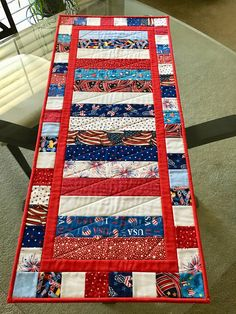 "Patriotic Table Runner / 16 1/2"" x 38"""