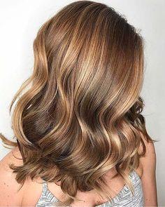 Caramel Golden Blonde Balayage Look www.guugle - All For Hair Cutes Balayage Blond, Balayage Highlights, Hair Color Balayage, Belliage Hair, Golden Blonde Hair, Stylish Hair, Hair Videos, Fall Hair, Cool Hairstyles