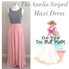 "❣LAST ONE- Amelia Maxi Dress- Size Large This has been so popular!! Don't miss out! Who doesn't love a good Maxie dress. The Amelia Maxi dress is perfect for date night, beach vacations or lounging with your girlfriends with a glass of wine. ▶️Measurements: Fits Dress Size 12-14, Bust: 38-40"", Length shoulder to hem 58"".  Material: 96% polyester, 4% spandex. Made in the USA Effortless fashion, hooray! YOU MAY DIRECTLY PURCHASE THIS LISTING or add it to a bundle.  Don't forget 20% off…"