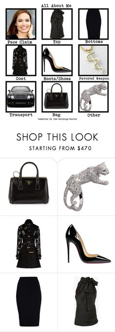"""Set #1637 - Kathryn Cross"" by the-walking-doctor ❤ liked on Polyvore featuring Prada, Anello, Burberry, Christian Louboutin, Roland Mouret, Balmain, rp and Den"