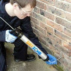 Dryzone Damp Proofing Cream for Rising Damp 600ml - Dryzone Tubes £20.00 each - Dryzone is a special silicone based damp proofing injection cream to treat rising damp. It is simply introduced along the mortar course at regular intervals by injecting it into pre-drilled holes. Use in conjunction with our Dryzone Applicator Gun.