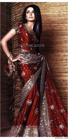 Indian #Bridal Sari - wish it was a darker red color! :/