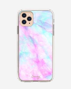 Iridescent Crystal (Rainbow Marble) - Casery - Drop Tested - Protective Slim Clear Case for Apple iPhone 11 Pro Max Pretty Iphone Cases, Girly Phone Cases, Iphone Phone Cases, Iphone Case Covers, Iphone Ringtone, Iphone Charger, Iphone 11 Pro Case, Iphone Background Vintage, Iphone Bluetooth