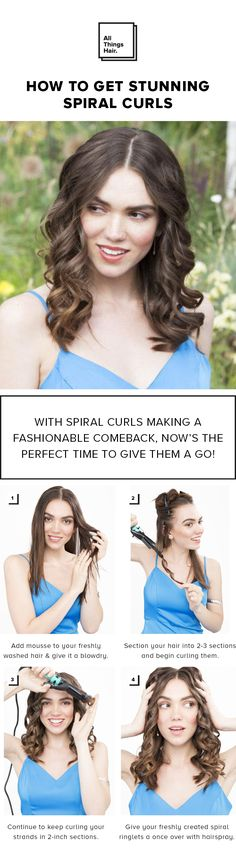 Want to get on board but not sure where to begin? Well, you'll be pleased to know that we're here to help. Yep, we're going to show you how to get star-worthy spiral hair in 3 surprising ways, whether you're working with or without heated styling tools! So just follow our easy hair hacks and prepare to be amazed…#Ad