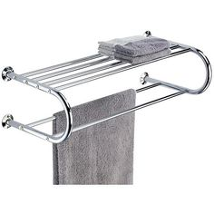 US $35.86 #bathroomshelf Hotel Style Bathroom Shelf Chrome Wall Mount Towel Hanging Bars Hooks Rack Stand