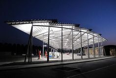 Total Service Stations — Aire de Ruisbroeck by Samyn and Partners