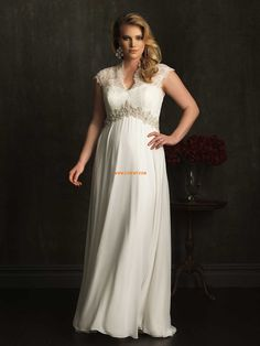 Chiffon Classic & Timeless Crystal Detailing Wedding Dresses 2014