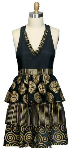 Kitchen Glamour Vintage Apron - make an apron like this:)