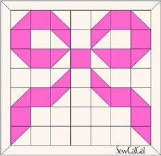 !Insights From SewCalGal: Breast Cancer Awareness Ribbon Quilt/Block Tutorial