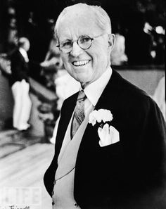 American diplomat Joseph P. Kennedy Sr. smiles on his son's wedding day. He'd invited a mix of socialites and political types to the reception, boosting not only the guest list numbers (to 1,200) but also John's profile.