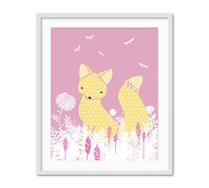 Fox Nursery Art Woodland Nursery Decor Fox by StrawberryJamStudio, $15.00