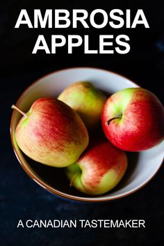 The Ambrosia Apple is a uniquely Canadian apple variety born out of a happy accident that's being embraced at home and around the globe for its delicious qualities. A Food, Food And Drink, Apple Varieties, Healty Dinner, Canadian Food, New Fruit, Recipe For Mom, Kitchen Recipes, Globe
