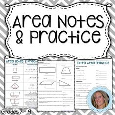 This 4 page lesson includes a page that details the formulas for finding the area of a square, rectangle, triangle, parallelogram and trapezoid. The second and third pages are practice problems. Answer Keys included!Available in my Basic Geometry Unit Resources bundle.Also available in my 6th Grade Math Mega Bundle!