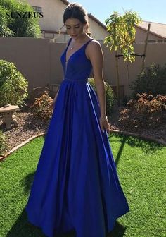 Royal Blue Prom Dresses,Simple Prom Dress, A-Line Satin Prom Dress,Cheap Prom Grad Dresses Long, Royal Blue Prom Dresses, V Neck Prom Dresses, A Line Prom Dresses, Cheap Prom Dresses, Dress Prom, Navy Blue Prom Dress Long, Blue Dresses, Barbie Dress