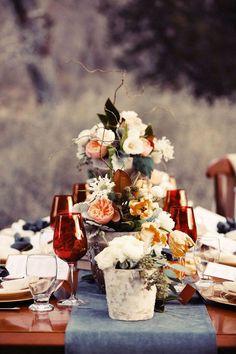 Wedding centerpiece idea.