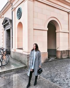Outfit: Overknees, checked Coat Check Coat, Winter Wardrobe, Fashion Bloggers, Duster Coat, Ootd, Pink, Jackets, Outfits, Capsule Wardrobe Winter