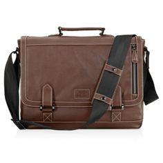 "Jill-e Designs 15"" Bennett Leather Messenger Bag"