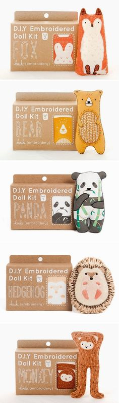 Embroidery Kits by Kiriki Press / On the Blog! Cute! With love, BakSaks.com