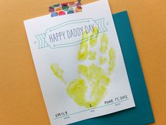 free mother's day/father's day handprint cards