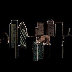 London Skyline   DegreeArt.com The Original Online Art Gallery Vegas Sign, London Skyline, Willis Tower, Online Art Gallery