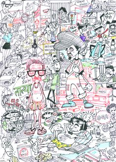 Doodle Art Wallpaper Products 20 Ideas For 2019 Art Sketches, Art Drawings, Art Ideas For Teens, Easy Doodle Art, Art Journal Tutorial, Doodle Art Journals, Art Friend, Mural Wall Art, Office Wall Art