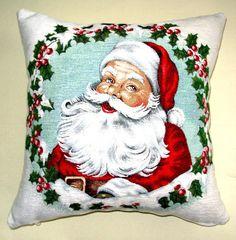 Decorative Christmas Pillow, Santa Pillow, Santa Claus Pillow , Red Pillow,Green Pillow, Christmas Decor, Pillow Both Sides,Christmas Gifts.