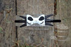 Hey, I found this really awesome Etsy listing at https://www.etsy.com/listing/182438916/jake-skeleton-inspired-felt-bow