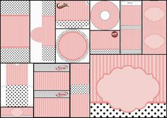Pink, White and Black Stripes and Polka Dots: Free Printable Candy Bar Labels.