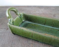 Tart Pan  Long Cracker Tray  Candle Tray  by LaPellaPottery