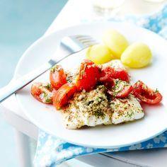 Découvrez la recette Cabillaud aux tomates sur cuisineactuelle.fr.