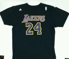 Adidas LA Lakers 24 Bryant Black T Shirt size Large  adidas   LosAngelesLakers Nba Shirts 43934d84c