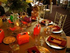 Children's table with goodie boxes