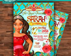 Elena Of Avalor Personalized Digital Invitation Party