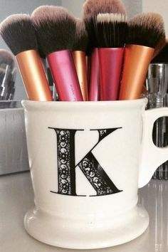 Anthropologie Monogram Mug | Pinned by topista.com